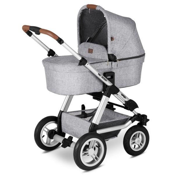 ABC DESIGN Kinderwagen Viper 4 incl. Sportsitz und Tragewanne - Classic graphite grey