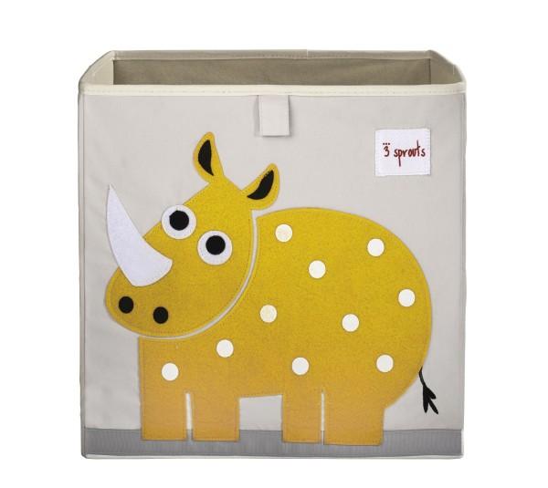 3 SPROUTS Spielzeugbox Rhinozeros