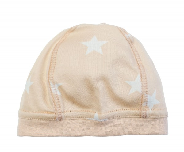 ZEWI bébé-jou Mütze-beige Stars Gr. S