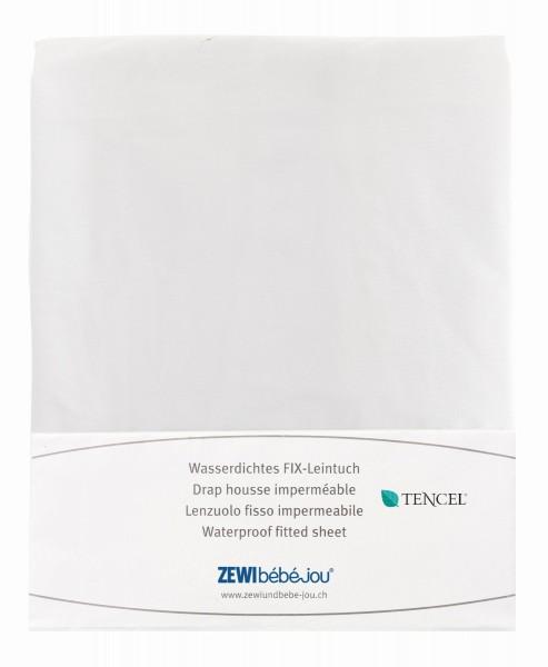 ZEWI bébé-jou Wasserdichtes FIX-Leintuch-weiss Gr. 60x120