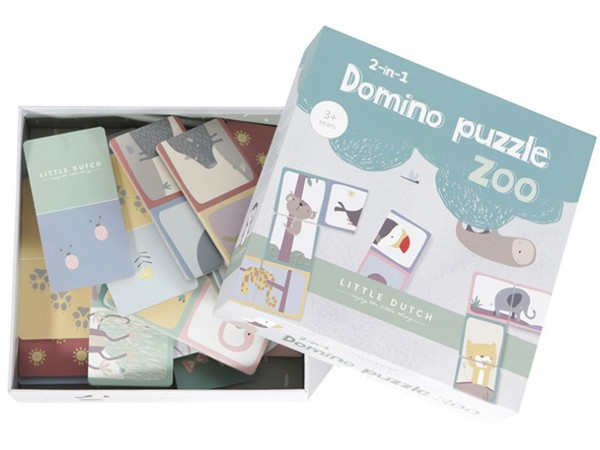 LITTLE DUTCH Domino Puzzle - Zoo