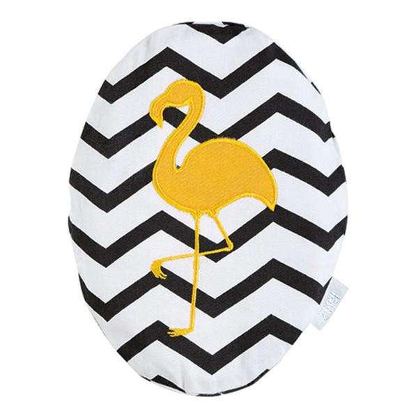 ZEWI bébé-jou Traubenkernkissen Flamingo-black Zig zag