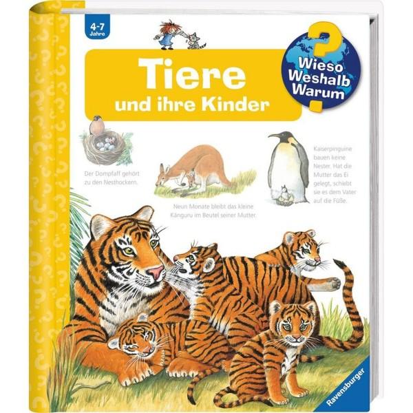 RAVENSBURGER WWW Junior 33 Tiere und ihre Kinder - Buch