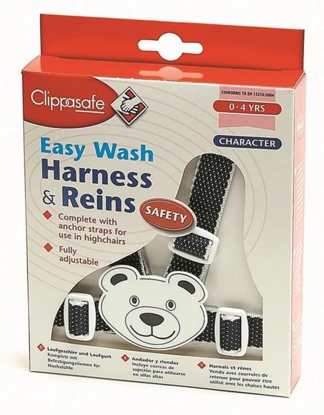 CLIPPASAFE Snally Sicherheitsgurt Teddy marine/weiss