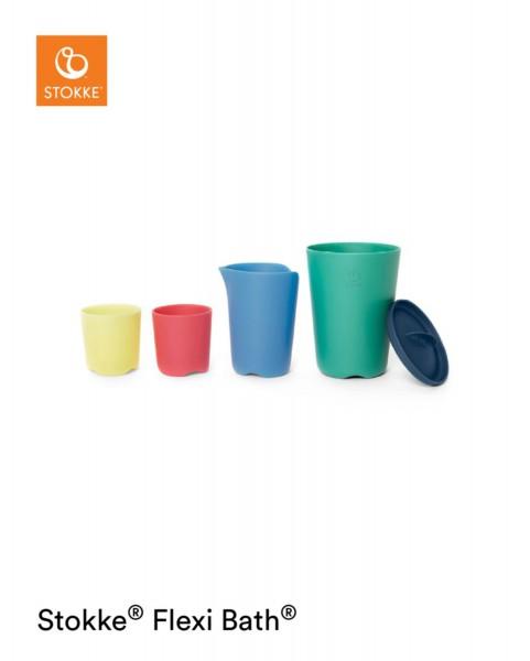 STOKKE® Flexi Bath Toy Cups Multi Colour