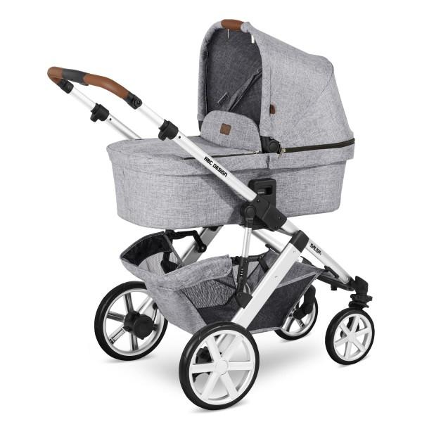 ABC DESIGN Kinderwagen Salsa 4 incl. Sportsitz und Tragewanne - Classic graphite grey