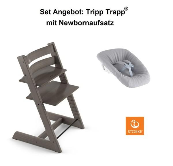 STOKKE Sonderaktion, Tripp Trapp Hazy Grey + Newbornset