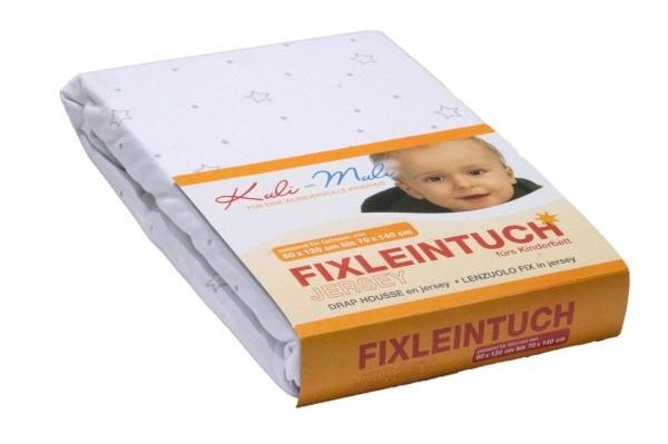KULI MULI Fixleintuch Jersey 90x45 stern silber
