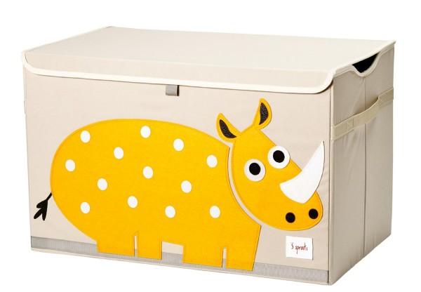 3 SPROUTS Spielzeugkiste Rhinozeros
