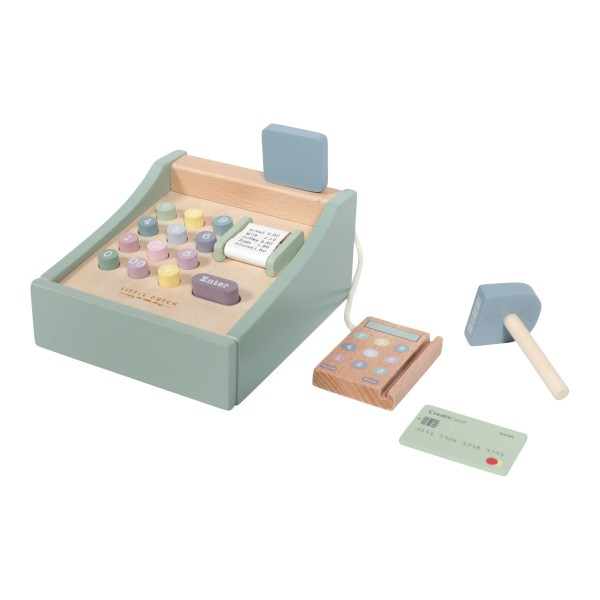 LITTLE DUTCH Holz Spielkasse mit Scanner – Adventure mint