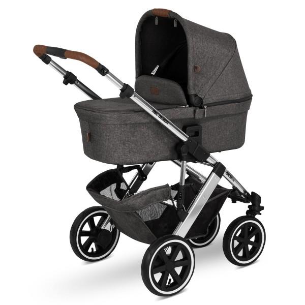 ABC DESIGN Kinderwagen Salsa 4 Air incl. Sportsitz und Tragewanne - Diamond asphalt