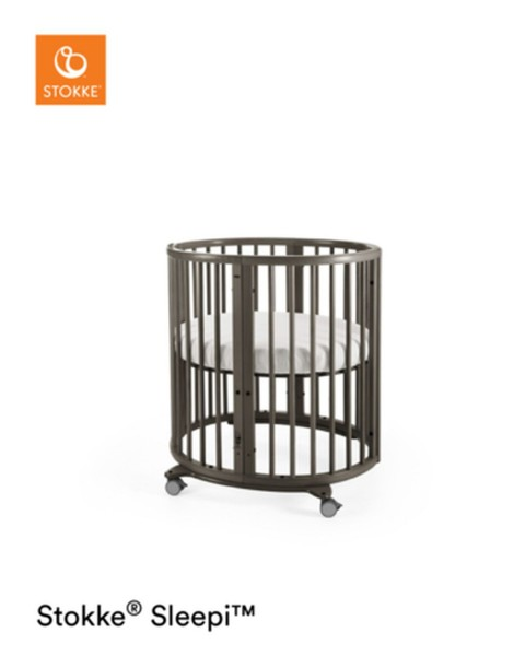 STOKKE® Sleepi Mini Bett inkl. Matratze Hazy Grey
