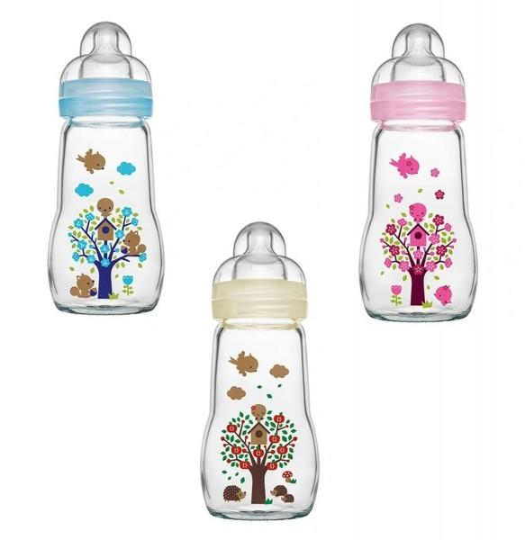 MAM Feel Good Glass Flasche 260 ml, 4+ Monate, einzeln & assortiert