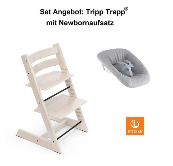 STOKKE Sonderaktion, Tripp Trapp Whitewash + Newbornset