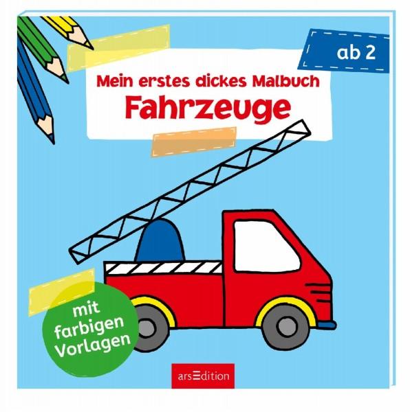 ARSEDITION Mein erstes dickes Malbuch: Fahrzeuge