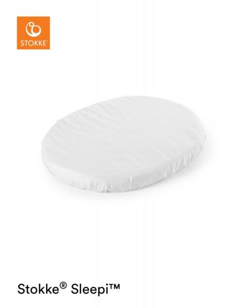 STOKKE® Sleepi Mini Spannbettlaken Weiss