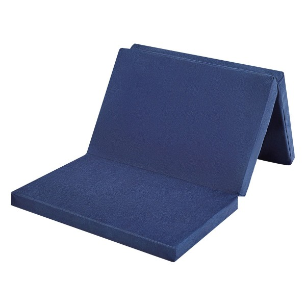 Reisebettmatratze 3-teilig, faltbar, blau