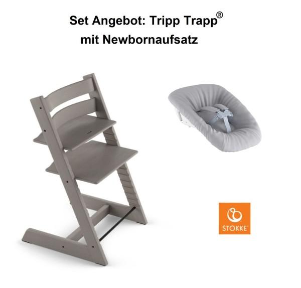 STOKKE Sonderaktion, Tripp Trapp Storm Grey + Newbornset