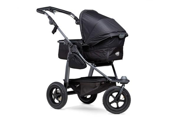 TFK Mono-Kombi Kinderwagen mit Luftrad-Set Schwarz