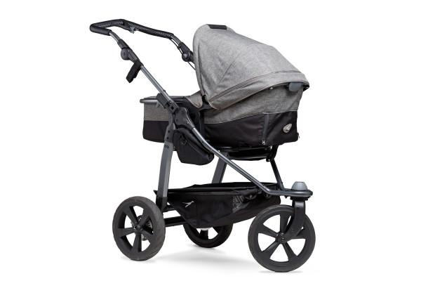 TFK Mono-Kombi Kinderwagen mit Luftkammerräder PREMIUM grau