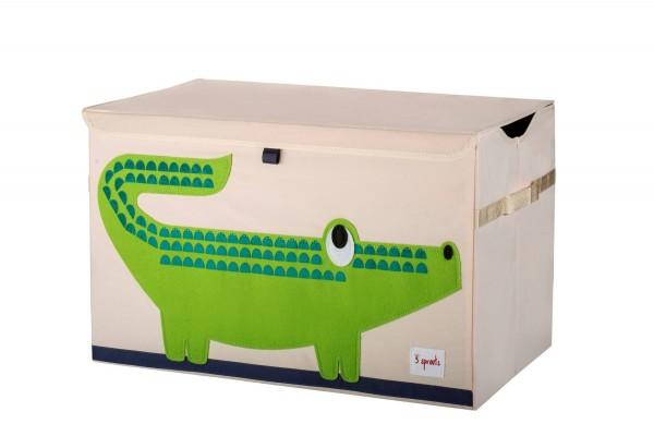 3 SPROUTS Spielzeugkiste Krokodil