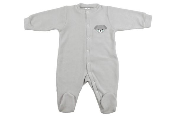ZEWI bébé-jou Kombi Frottee-grau Hund