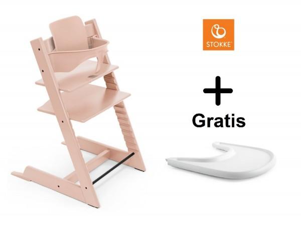 SONDERAKTION STOKKE® Tripp Trapp Serene Pink mit Baby Set & GRATIS Tray