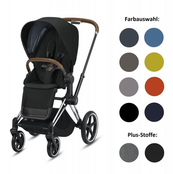 CYBEX Priam Set-Angebot Kinderwagen Rahmen in Chrome Brown inklusive Sportsitz