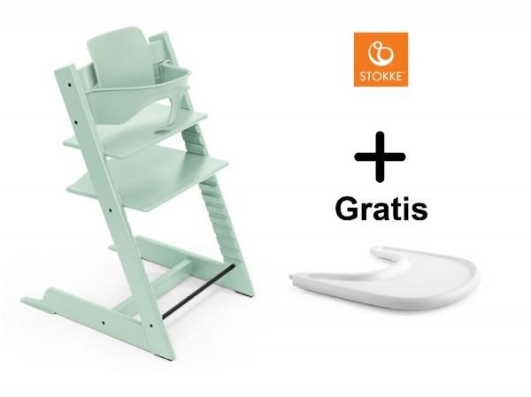 SONDERAKTION STOKKE® Tripp Trapp Soft Mint mit Baby Set & GRATIS Tray