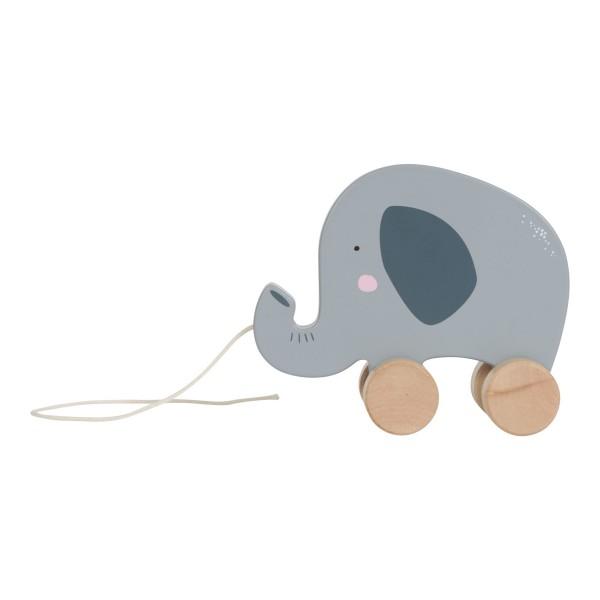 LITTLE DUTCH Holz Nachziehtier - Elefant