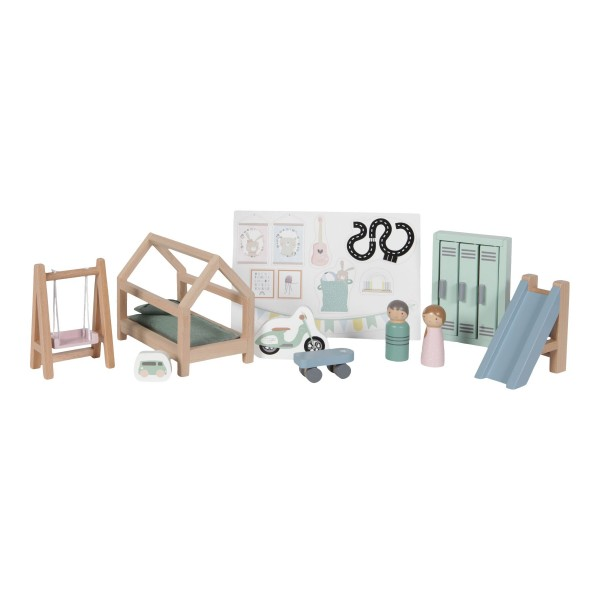 LITTLE DUTCH Puppenhaus – Spielset Kinderzimmer - 12-teilig