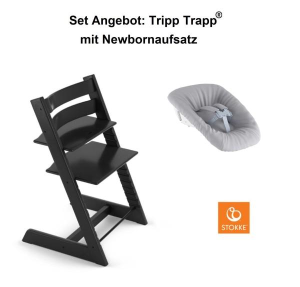 STOKKE Sonderaktion, Tripp Trapp Schwarz + Newbornset