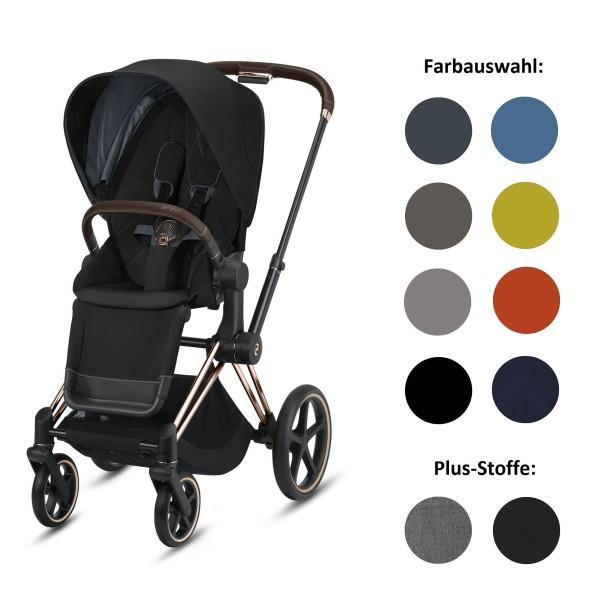 CYBEX Priam Set-Angebot Kinderwagen Rahmen in Rosegold inklusive Sportsitz