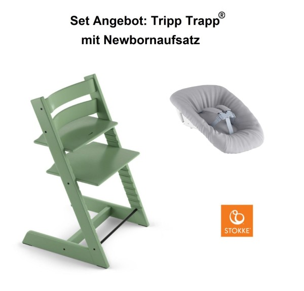 STOKKE Sonderaktion, Tripp Trapp Moss Green + Newbornset