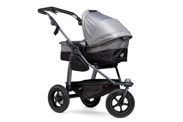 TFK Mono-Kombi Kinderwagen mit Luftrad-Set Grau