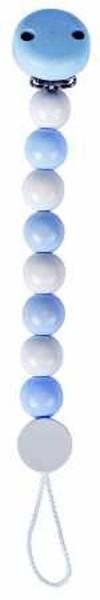 HEIMESS Schnullerkette blau/weiss