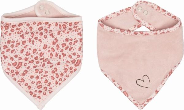 ZEWI bébé-jou Bandana/Dreieckstuch 2 Stk.-pink Leopard