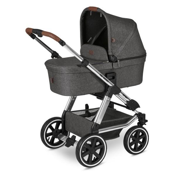 ABC DESIGN Kinderwagen Viper 4 incl. Sportsitz und Tragewanne - Diamond asphalt