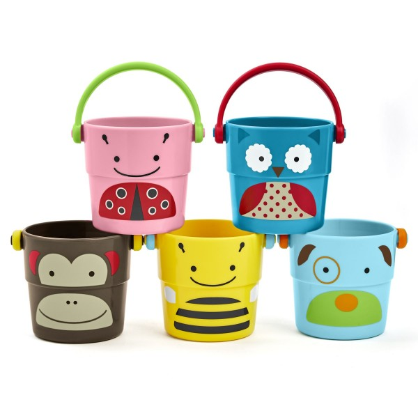 SKIP HOP Zoo Stack&Pour Buckets