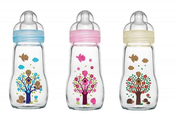 MAM Feel Good Glass Flasche 170 ml, 0+ Monate, einzeln & assortiert