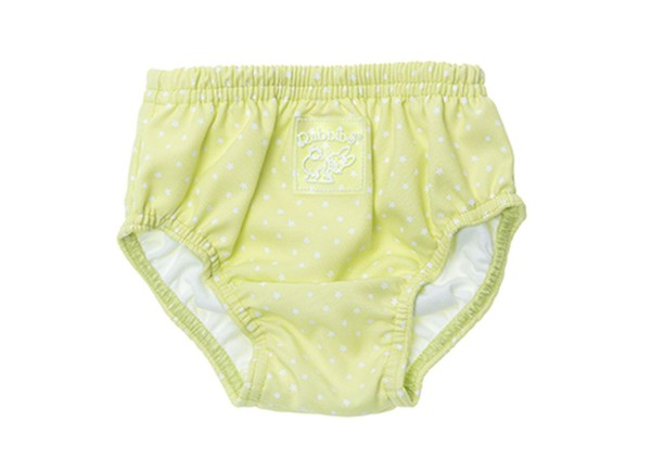 ZEWI bébé-jou Badehose Stern mit Polyurethaneinsatz-hellgrün Gr. XL