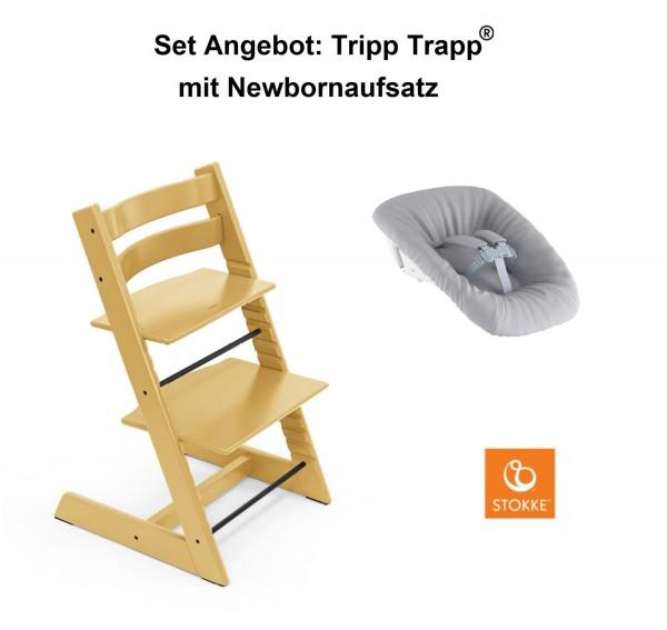 STOKKE Sonderaktion, Tripp Trapp Sunflower Yellow + Newbornset