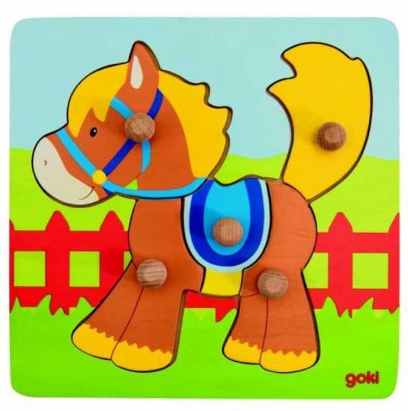 GOKI Steckpuzzle Pferd
