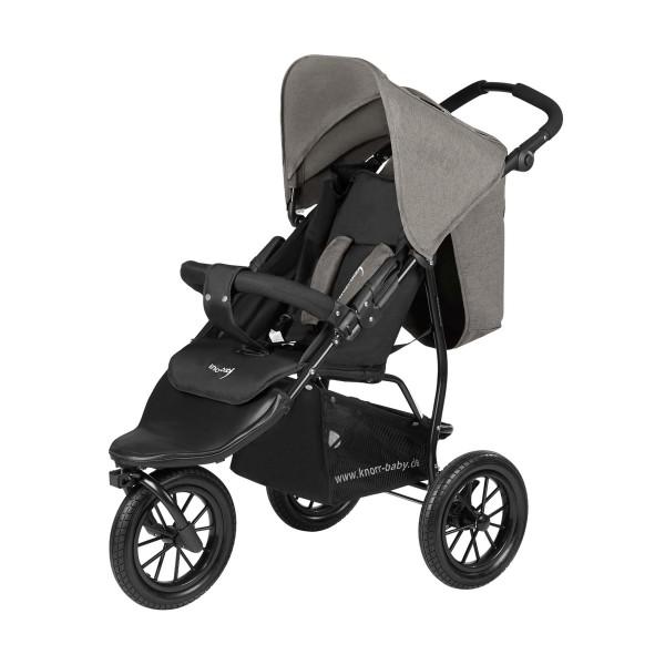KNORR BABY Kinderwagen Joggy S Melange Hellgrau