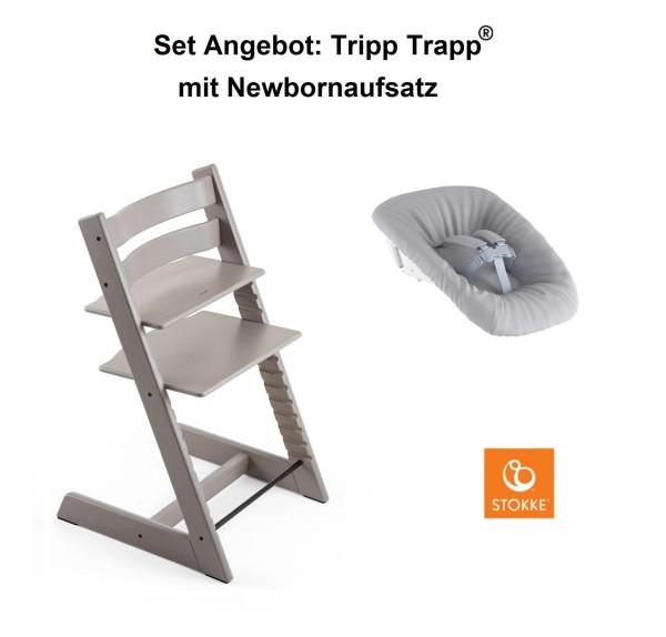 STOKKE Sonderaktion, Tripp Trapp Eiche Greywash + Newbornset