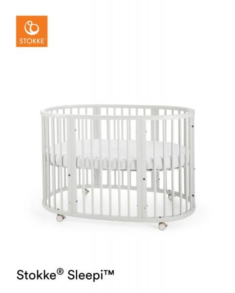 STOKKE® Sleepi Bett Stokke inkl. Matratze 120cm weiss