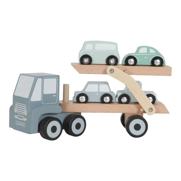 LITTLE DUTCH Holz Autotransportwagen