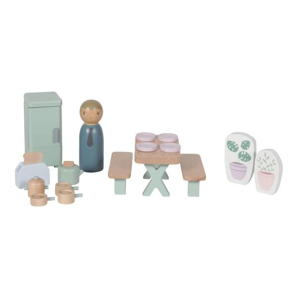 LITTLE DUTCH Puppenhaus – Spielset Küche - 19-teilig