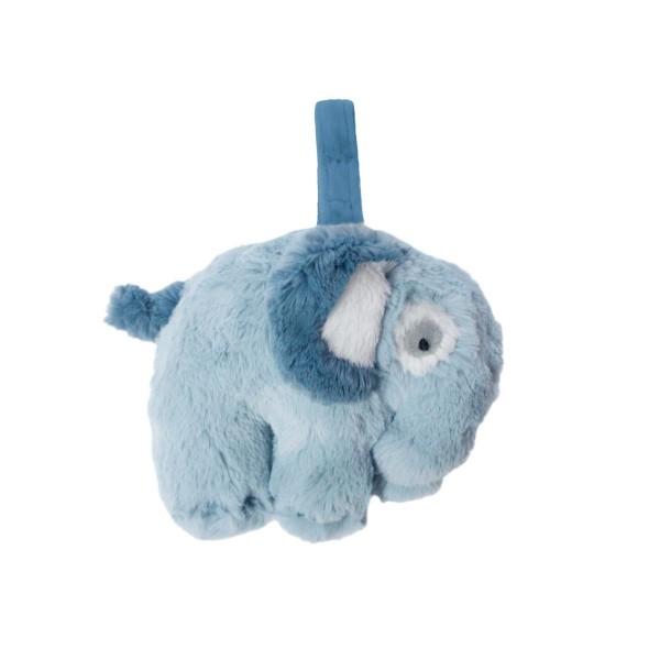 SEBRA Plüsch-Spieluhr, Elefant, wolkenblau