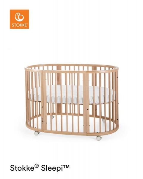 STOKKE® Sleepi Bett Stokke inkl. Matratze 120cm Natur